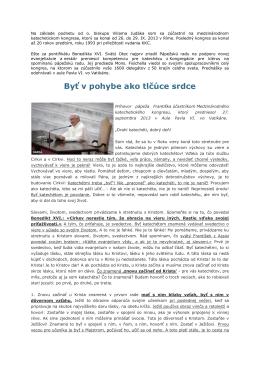 Príhovor pápeža Františka účastníkom Medzinárodného