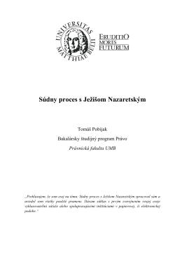 Súdny proces s Ježišom Nazaretským