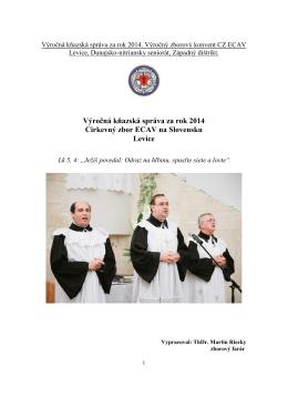 Knazska sprava 2014.pdf - Domov - ECAV