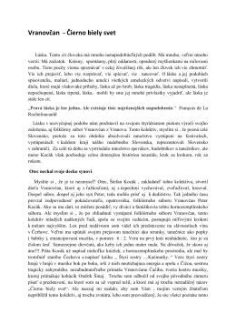 Vranovčan - Čierno biely svet