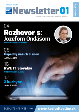NEWSLETTER 01 - Košice IT Valley