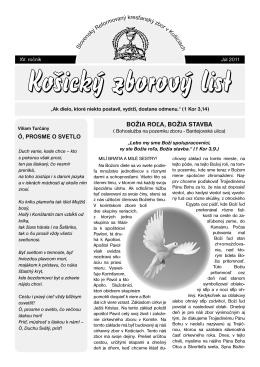 zborový list 2/2011 - Slovenský Reformovaný Kresťanský Zbor v