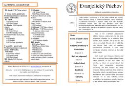 časopis Evanjelický Púchov 1/2013
