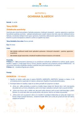 Aktivita 5: Ochrana slabších (PDF)