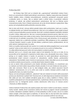 Milan Bardún - Profesia days