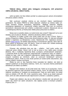 Príhovor RNDr. Helena Vicenová PDF