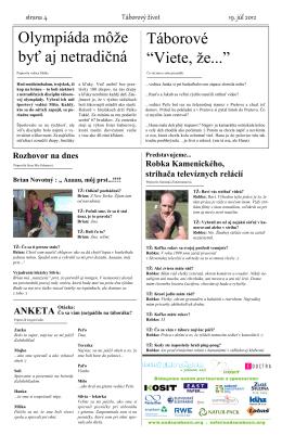 Noviny Štvrtok