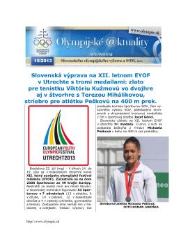 Olympijské aktuality 15/2013