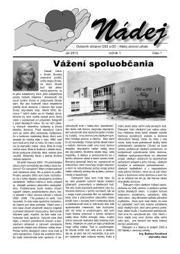 noviny - DSS a DD Nádej