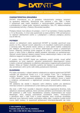 PRÍPADOVÁ ŠTÚDIA DATART INTERNATIONAL, A.S.