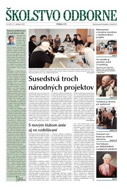 Učiteľské noviny - Susedstvá troch národných projektov