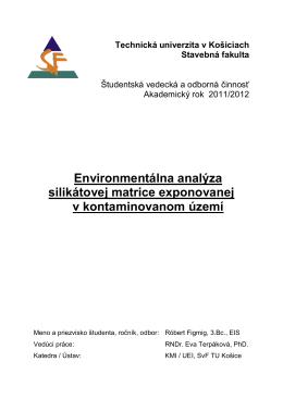 Environmentálna analýza silikátovej matrice exponovanej v
