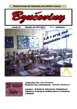 September 2011 - Základná škola, Vajanského 2844/47, Lučenec