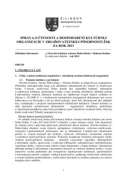 Správa za rok 2013 - Oravská knižnica Antona Habovštiaka