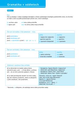 Gramatika v oddieloch - Ucebnice