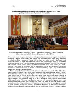 Spravodaj 21 - Modlitby otcov