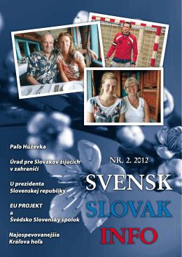NR. 2. 2012 - Švédsko Slovenský spolok