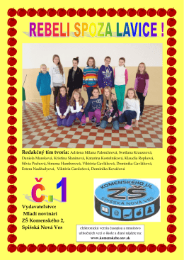 Časopis 1/2013
