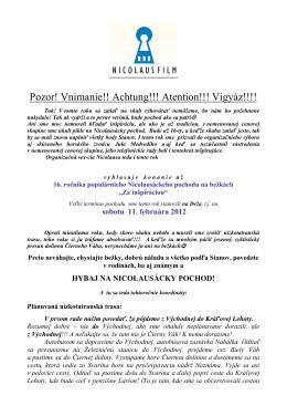 Pozvanka + stanovy NICOLAUS-POCHOD 2012