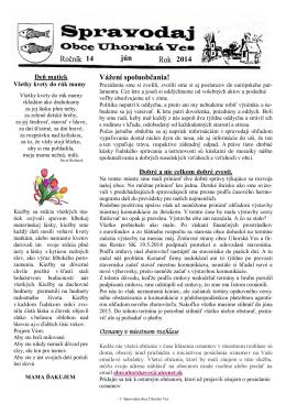 Spravodaj č. 02/2014