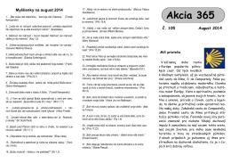 Akcie 365 na august 2014