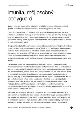 Imunita, môj osobný bodyguard