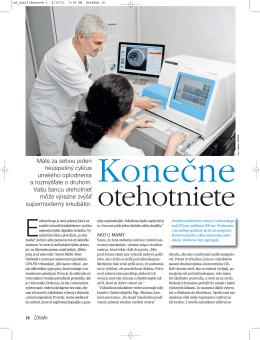 Časopis Zdravie – Konečne otehotniete - GYN