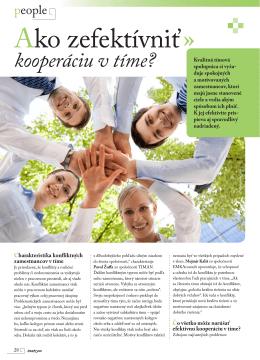 2011 Ako zefektívniť kooperáciu v tíme