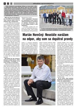 Marián Horečný: Neustále narážam na odpor