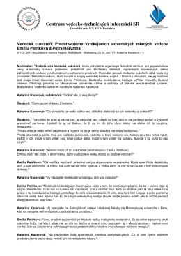 Otvoriť pdf - NCP - Centrum vedecko