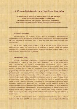 2. Pozdravný list od verných z PCO v Bajerovciach
