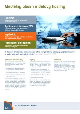 Mediálny obsah a dátový hosting