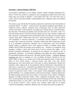 Osvienčim – exkurzia študentov ÚRŠ 2014 TÁTO KRUTÁ HISTÓRIA