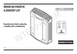 Čistič vzduchu P2261