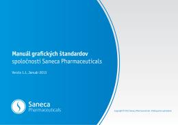 Manuál grafických štandardov spoločnosti Saneca Pharmaceuticals