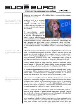 Budiž Euro! 39/2013