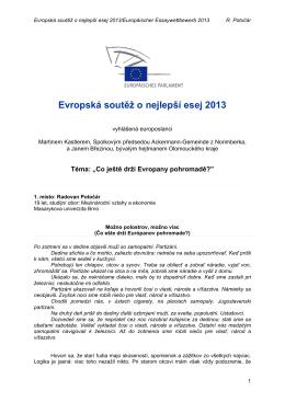 Evropská soutěž o nejlepší esej 2013 - Ackermann