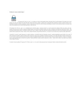 Prehlásenie o ochrane osobných údajov: Ck
