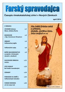 Časopis rímskokatolíckej cirkvi v Nových Zámkoch