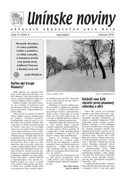 Unin noviny