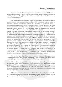 Správa do novín, Janette Pichaničová, ZUŠ Svidník