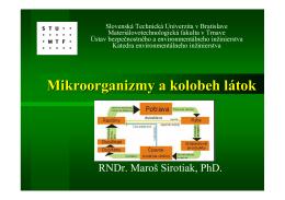 Mikroorganizmy a kolobeh látok