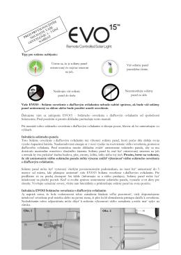 Vaše EVO15 - Solárne osvetlenie s diaľkovým