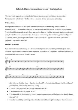 Lekcia 8: Bluesová dvanástka a hranie v druhej