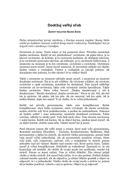Dodržuj veľký sľub - Kwan Um School of Zen Europe