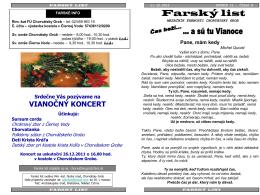 Farský list - Farnosť Chorvátsky Grob