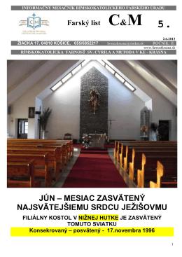 Farský list č. 5 - farnostkrasna.sk