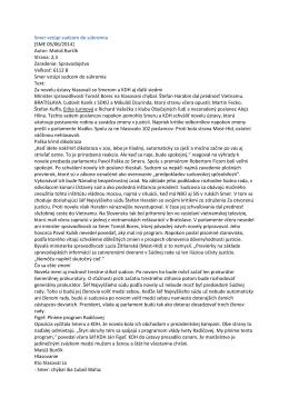 Smer vstúpi sudcom do súkromia [SME 05/06/2014