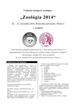Výbor Slovenskej zoologickej spoločnosti so spoluorganizátormi si