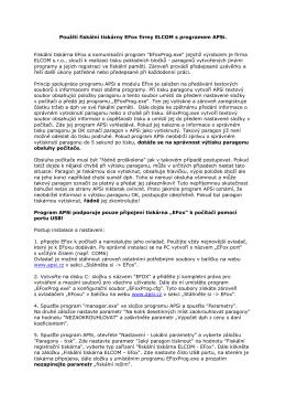 Použití fiskální tiskárny EFox firmy ELCOM s programem